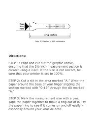 Sizer Printable Ring Size Chart Printable Ring Size Chart Pdf