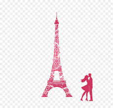 eiffel tower pink wall decal wallpaper paris valentine s day romantic silhouette