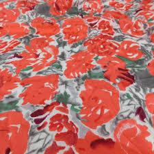 """Vintage Van Horn Red Rose Pattern Floral 100% Silk Scarf 34"""" X 34 ..."""