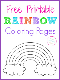 The early bird catches the worm! Free Printable Rainbow Coloring Pages What Mommy Does