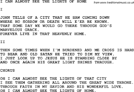 The Light Of That City Sheet Music Country Southern And Bluegrass Gospel Song I Can Almost See