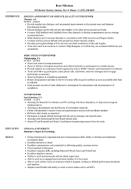 Interviewer Resume Interviewer Resume Samples Velvet Jobs 1
