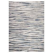 kalora alta cream blue wavy stripes rug