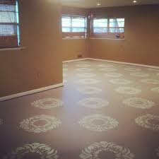 painted basement floorspainted concrete floors pictures  Painted concrete floor pattern
