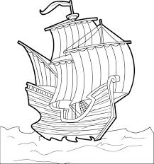 The Mayflower Free Printable Thanksgiving Coloring Page For Kids