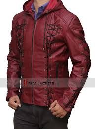 nal red leather jacket