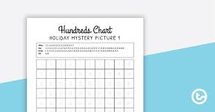 Holiday Hundreds Chart Mystery Pictures Teaching Resource