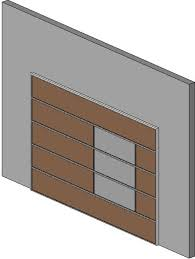 flat panel garage doorRevitCitycom  Object  Contemporary Flat Panel Garage Door