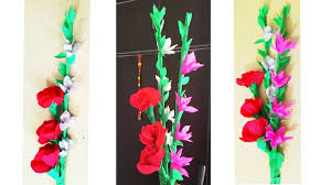 Making Flower Using Crepe Paper How To Make Crepe Paper Flower Bunch Diy Paper Flower Youtube