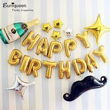 Mylar Golden Happy Birthday Letter Balloons Kit Adult Dad Father Boyfriend Birthday Party Decoration ideas Wine 640x640