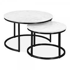 black madison nest of 2 tables