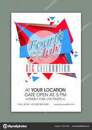 Template Banner Or Flyer For Fourth Of July Stock Vector