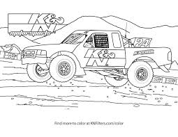 Free Printable Monster Truck Coloring Pages For Kindergarteners Book
