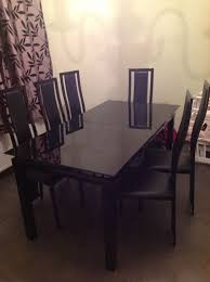 must go harvey black glass black glass extending dining table 6 chairs stunning ikea dining table