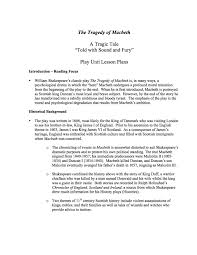 essay topics macbeth thesis statement for macbeth research paper  macbeth unit lesson plans a comprehensive unit study of point objective question objective 100 question character