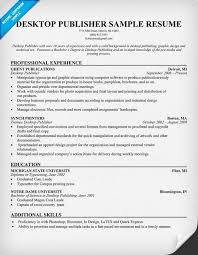 Resume Templates For Publisher Desktop Publisher Resume Resumecompanion Com Resume