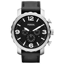 leather fossil men s watches shop the best deals for 2017 fossil men s nate chronograph black leather strap watch quick view