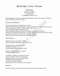 Sample Resume For Software Tester Fresher 24 Lovely Sample Resume For Software Tester Fresher Professional 18