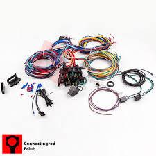 21 circuit 17 fuses ez wiring harness chevy mopar ford hot rod Universal GM Wiring Harness wiring harness 21 circuit 17 fuses universal hot rod extra long wires kit