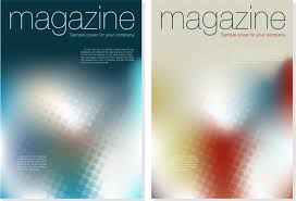 vector brochure and magazine layout design set magazine cover templates bokeh decor