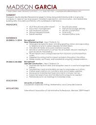 Receptionist Resume Cover Letter – Slint.co