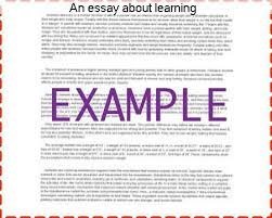 an essay about learning research paper help an essay about learning