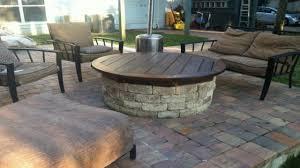 gas fired fire pit wooden decks and patios wooden decks