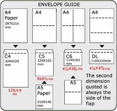 Envelopes Envelope Size Chart Paper Sizes Chart Legal