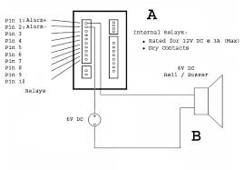 bell setup this diagram depicts an example of direct wiring for use a low voltage low current bell or buzzer this diagram contains two major parts the relay