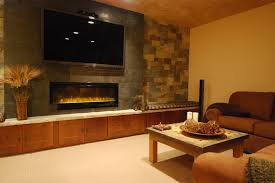 living room with electric fireplace and tv. Inspired Lowes Electric Fireplace In Family Room Contemporary With Tv Next To Wall Mount Alongside And Entertainment Living