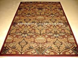 arts and crafts style area rug arts crafts mission style rust red beige mission style area