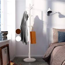 White Coat Rack Tree Beauteous Amazon LCH Wood Standing Coat Rack Hall Tree Coat Tree With 32