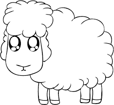 Small Picture Easy Coloring Pages Toddlers Animals Sheep color page animal