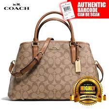 Coach F58310  NWT  SMALL MARGOT CARRYALL IN SIGNATURE -IMBDX (Khaki   Saddle