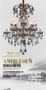 smoky gray incandescent luminaire chandelier crystal re for