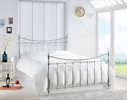 Metal Bedroom Furniture Happy Beds Alexa Contemporary Metal Bed Crystal Finials Furniture
