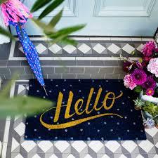 Hello Door Mat Blue Spots - Home Accessories - Homeware