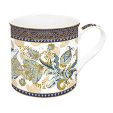Easy Life Design Coffee Mugs Porcelain Mug 300 Ml In Gift Box Shangri La Blue