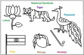 Small Picture National Symbols of India coloring printable pages for kids