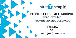 People Soft Consultant Resume Beauteous PeopleSoft TechnoFunctional Lead Resume Profile Denver Colorado
