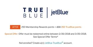 jetblue frequent flyer enrollment code targeted amex bonus transfer to jetblue as high as 30 more