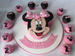 minnie mouse birthday cake and cupcake ideas