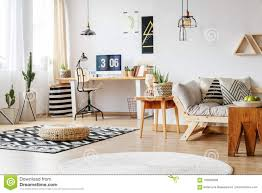 Apple Designer House Spacious Work Zone With Rugs Stock Photo Image Of Carpet