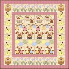 Easter Row By Row Quilt Pattern FCP-012 (advanced beginner, full) & Easter Row by Row Quilt Pattern FCP-012 Adamdwight.com