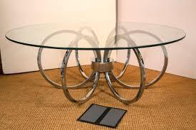 surprising round chrome table 12 white novara dining set