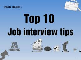 Top 10 Job Interview Tips Pdf Ebook