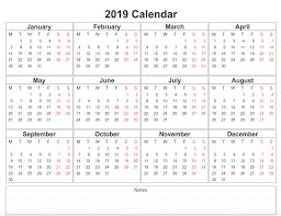 017 Free Printable Calendar Excel Template Excellent 2019
