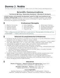 Sample Undergraduate Resume Research Resume Template