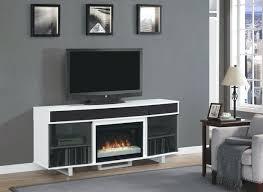 stand with soundbar cabinet shelf white base electric fireplace black tv above