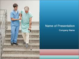 Male Nurse Assisting A Patient Powerpoint Template Infographics Slides